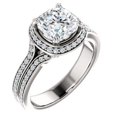 122238 Halo Engagement Ring