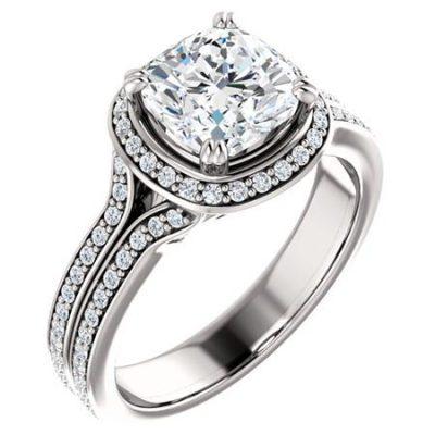 122238 Halo Engagement Ring