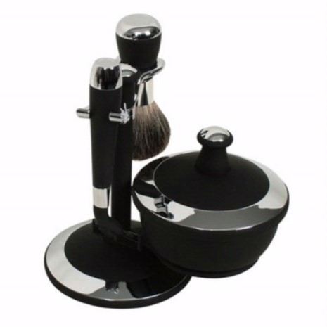 G31983 Black Chrome Shaving Set