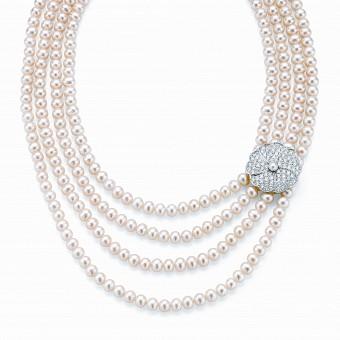4 strand freshwater pearl necklet