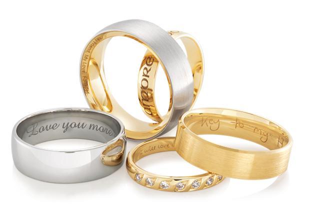 classic wedding bands custom engraved