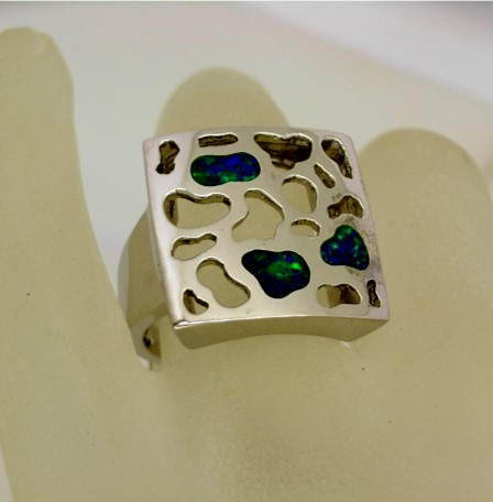 A14684 Square Opal Ring