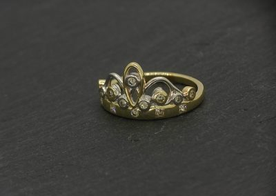 custom made princess tiara ring