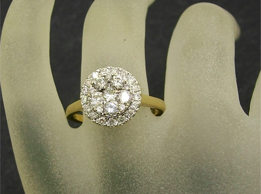 R11497 Diamond Cluster Ring