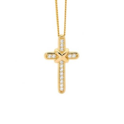 Gem set cross