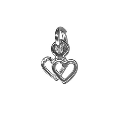 Double Heart Charm
