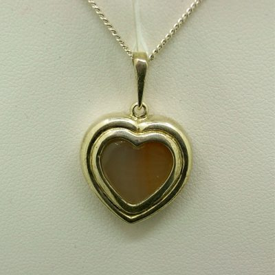 Heart Iron Stone Pendant