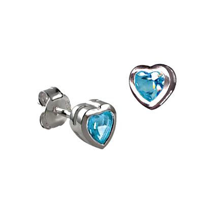 Blue Heart Studs