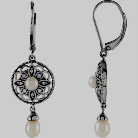 Filigree Pearl Earrings