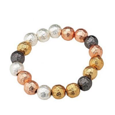 Hammered Bead Bracelet
