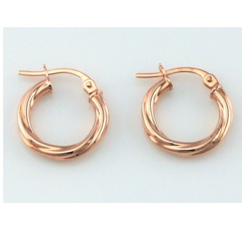 Rose Gold Twisted Earrings