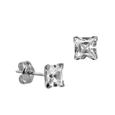 5mm Square Earrings