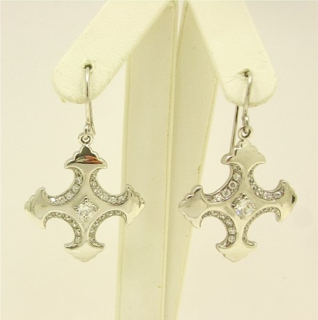 Fancy Cross Earrings