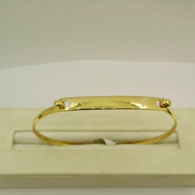 Gold ID Bangle