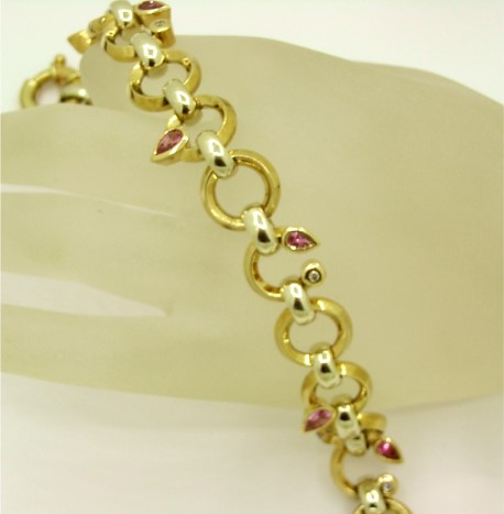 G17881 Pink Sapphire Bracelet