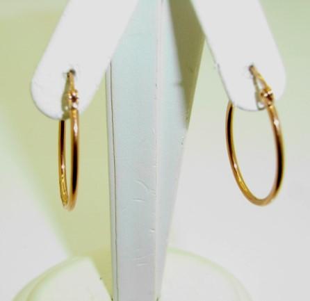 Rose Hoop Earrings