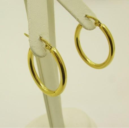 Yellow Hoop Earrings