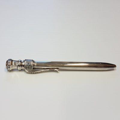 Silver Geometric Pen