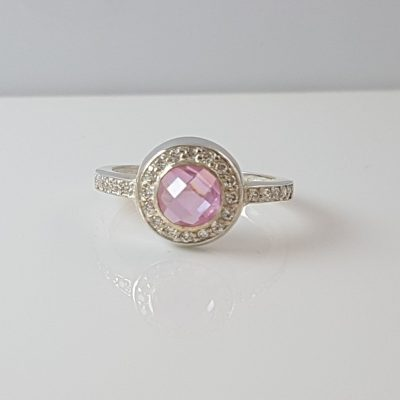 Pink Crystal Ring