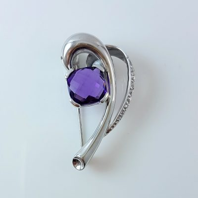 Purple Brooch