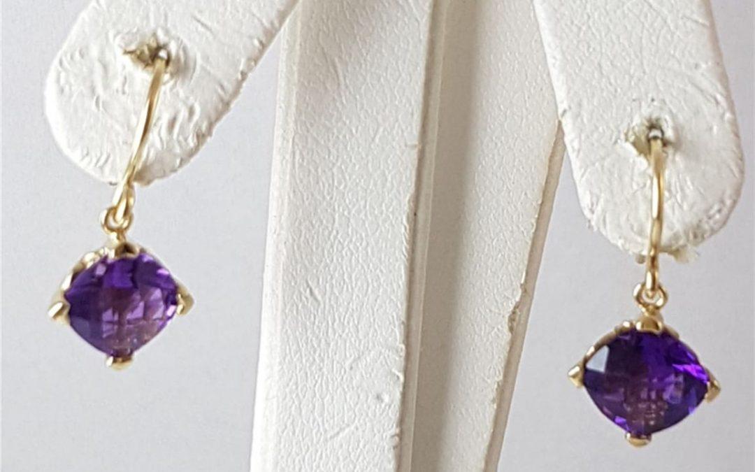 G34362 Amethyst Earrings
