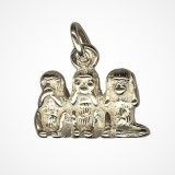 Wise Monkeys Charm