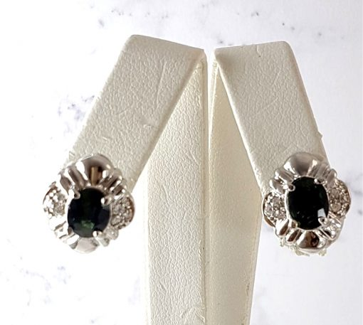 Green Sapphire Earrings