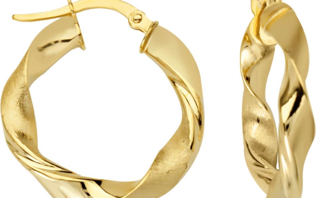 G34179 Twist Ribbon Earrings