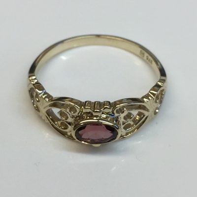 Filigree Garnet Ring